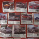 "LOT of 16 RARE ""TURBO"" CARS CHEWING GUM WRAPPERS"