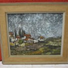 ORIGINAL SIGNED JEWISH ARTIST ASHER / ASCHER AMID PAINTING OIL ON CANVAS ISRAEL