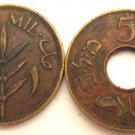 1 MIL 1939 & 5 MILS 1944. ISRAEL, PALESTINE, VINTAGE COINS