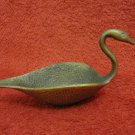 VINTAGE ISRAEL OPPENHEIM BRASS SWAN DISH WITH STAMP