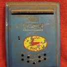 VINTAGE ISRAEL METAL POST BOX WITH INSIGNIA DEER DOAR 1950's