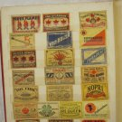LOT #8 OF 22 VINTAGE RARE MATCHBOX LABELS THREE STARTS KEY PISTOL FIRE QUEEN