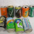LOT OF 9 1990's - 2000's ISRAEL COLLECTIBLE SODA CANS 7UP DAVID BECKHAM HEBREW