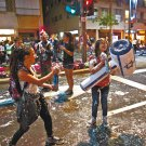 """ISRAEL INDEPENDENCE DAY SNOWFLAKES SPRAY 750ml WITH FLAG PICTURE """"HAPPY HOLIDAY"""""""