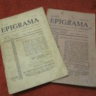 "LOT OF 2 VINTAGE 1939 & 1940 ""EPIGRAM"" ROMANIAN MONTHLY SATIRIC MAGAZINE JOURNAL"