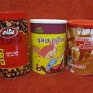 ISRAEL 3 COFFEE CHOCO CHOCOLATE LITHO TIN BOXES HEBREW SHUFERSAL ELITE MEGA