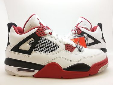 detailed look 0ded4 e910c  308497-110  Mens Air Jordan 4 Retro IV White Varsity Red Fire Black 2012  QS HOH