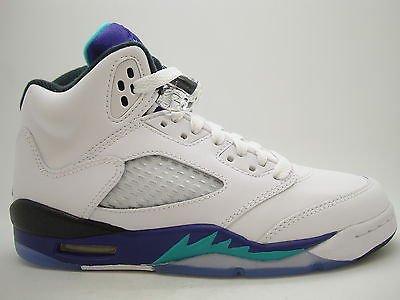 7e827c2f8ded  440888-108  Boys Youth Air Jordan 5 Retro White New Emerald Grape Ice 2013  QS