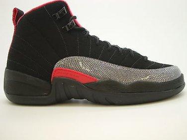 56ae7501ab33  510815-008  Girls Youth Air Jordan 12 Retro Black Siren Red XII Sneakers QS