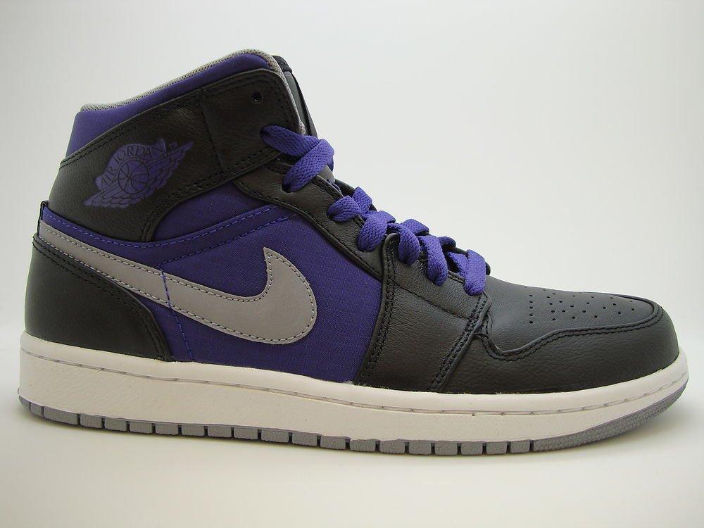 ddac6c5623d2  364770-018  Mens Air Jordan 1 Phat Retro Black Stealth Court Purple  Sneakers LE