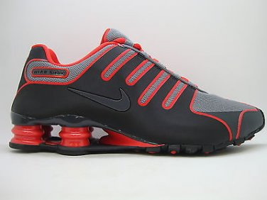 0f71e7dfb1bf99  543221-001  Mens Nike Shox NZ NS Black Anthracite Cool Grey Red Sneakers