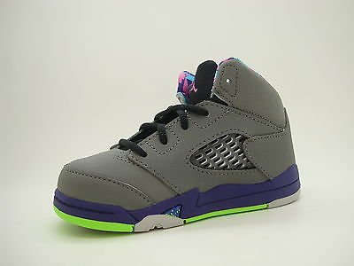 09ac1563121a  440890-090  Baby Toddlers Air Jordan 5 Retro Bel Air Fresh Prince Grey  Purple