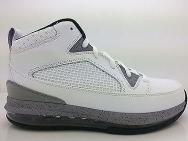 new product f1bd6 ed845  486875-103  Mens Air Jordan Flight 9 Max RST White Black Cement Grey