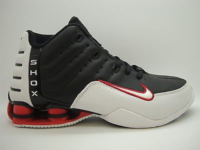 competitive price 53d35 4409a 308804-011 Boys Youth Nike Shox Elevate Black White Varsity Red Vince  Carter
