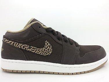 Men Air Jordan 1 Phat Low Velvet Brown Khaki White Shoes