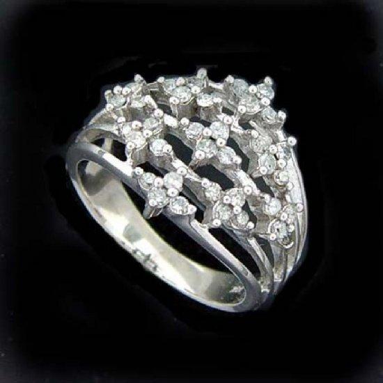 1/2 ctw. Diamond & Solid 10K White Gold Ring