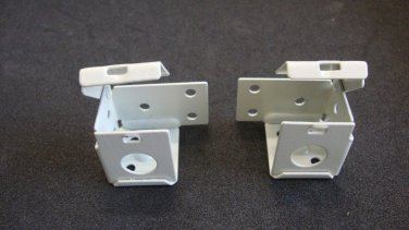 "1 PAIR: MINI BLIND Brackets, for 1"" X 1"" Head Rail, in Ivory Metal / Horizontal"