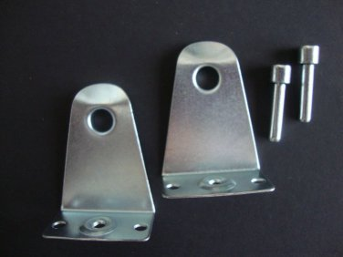 """2 PAIRS: 2"""" Metal Hold Downs & Pins, for horizontal blinds w/ up to 2"""" slats"""