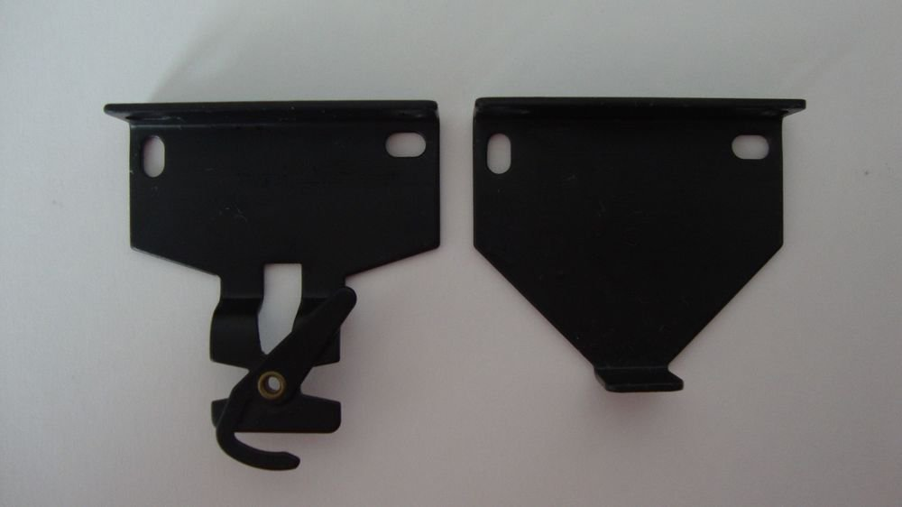 1 Pair : Roller Shade R16/R24 EXTENDED BRACKETS// black // 2-7/8� Projection