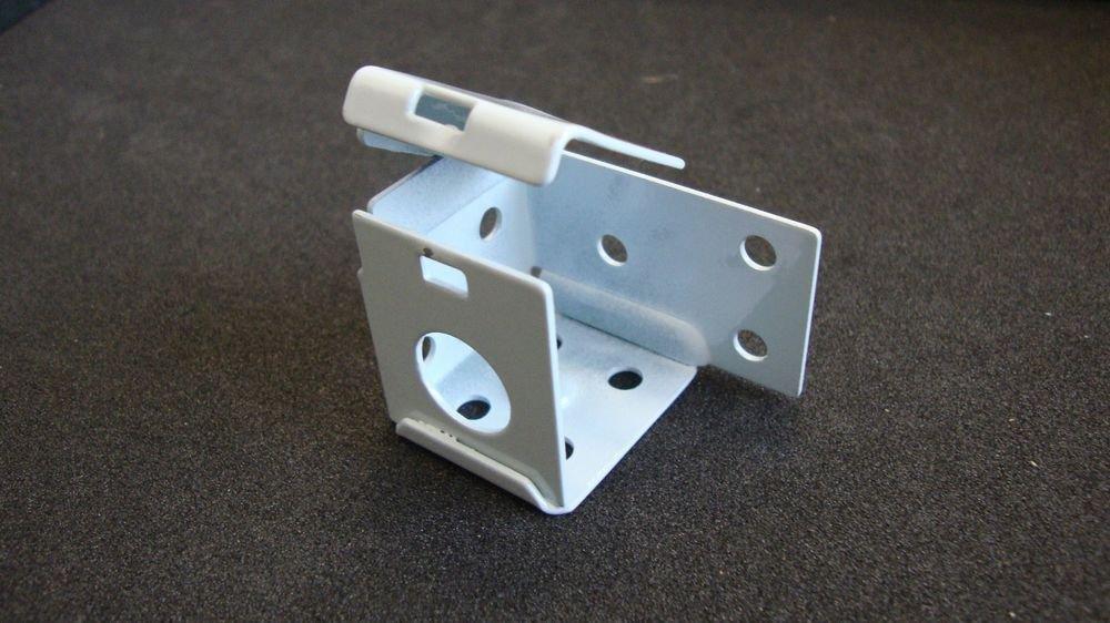 "4 PAIR: MINI BLIND Brackets, for 1"" X 1"" Head Rail, in White Metal (Horizontal)"