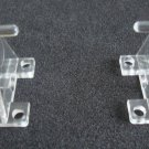 Hold Down Brackets for Horizontal blinds up to 2in wide, Clear, 10 PAIR