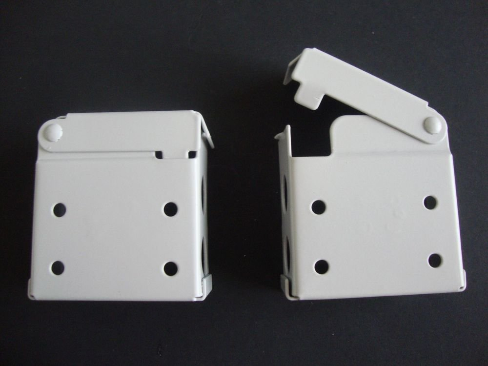 "Horizontal Blind Brackets, for 2"" X 2"" Head Rail, 8 Brackets in White Metal"