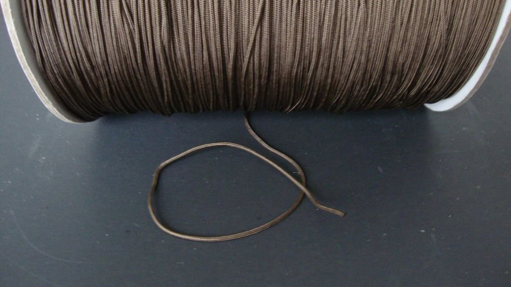 30/60 FEET:1.8mm CHOCOLATE LIFT CORD for ROMAN/PLEATED shades & HORIZONTAL blind