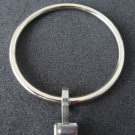 """10 QTY: SILVER Dual Finish Curtain Rings, 2"""" Diameter, w/ Brushed Steel Clips"""