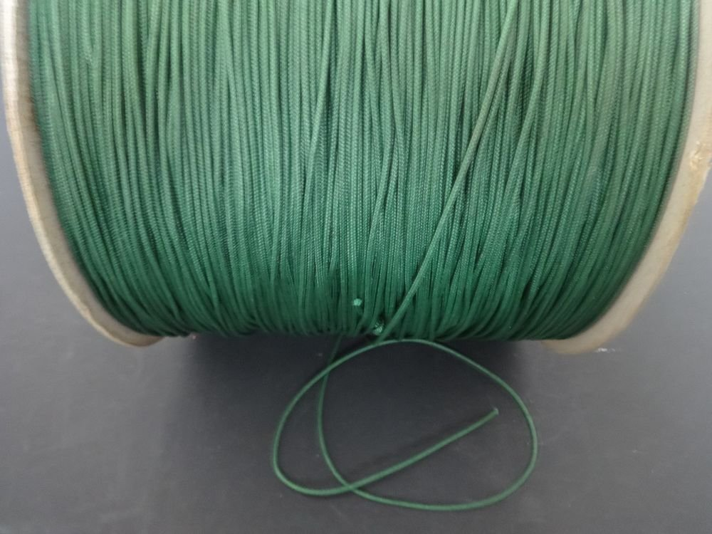 20/40 FEET:1.8mm Forest GREEN LIFT CORD for ROMAN/PLEATED shades & blinds
