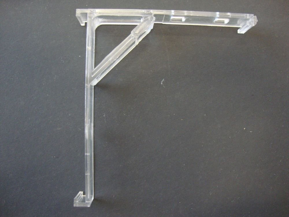2 QTY: INSIDE MOUNT Vertical Blind Bracket with built in Valance clip, Clear