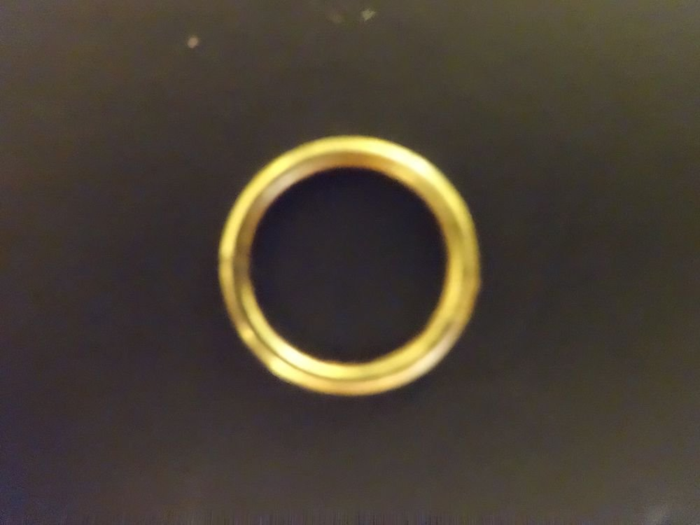 "50 QTY:  3/8"" BRASS CORD GUIDE RINGS (SEW-ON)  for Roman Shades build/ repair"
