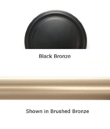 """Designer Metals 1 3/8"""" Telescoping Pole (Black bronze, 120""""-180"""") [Kitchen]"""
