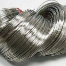 Steel Bracelet Memory Wire 5.5cm, Nickel Color, Wire: 0.6mm, 50 Circles.