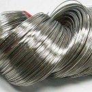 Steel Bracelet Memory Wire 5.5cm, Nickel Color, Wire: 0.6mm, 50 Circles.