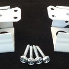 2 QTY: Micro Blind Bracket with Screws: Metal (Box Style) WHITE