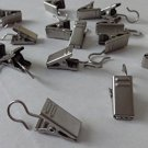 20 QTY: Brushed Silver Drapery Ring Clips for all Drapery Rings