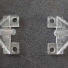 Hold Down Plastic Bracket For 2 inch Horizontal Blind- Pack of 2 - Clear