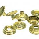 "100 QTY: OSBORNE  No. K5717-20-C Shiny Brass SNAP Set  -5/8""  Caps(MPN # 14208)"