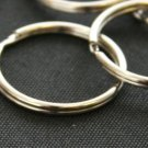 200 QTY: 25MM Split Key Chain Ring Connector Keychain / Nickel Plated
