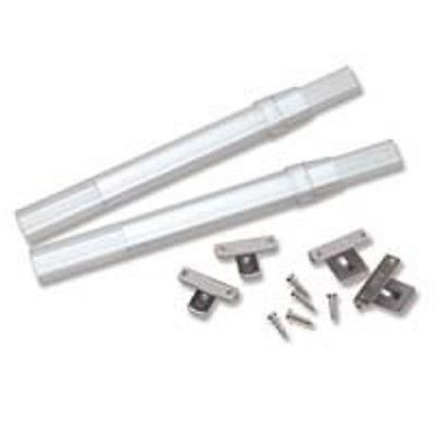 """2 Graber Crystal Clear Sash Curtain Rods(7 to 11 1/2"""" Adjustable Width, Clear)"""