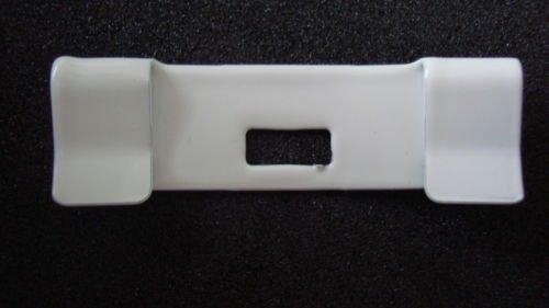 15 Pack VERTICAL BLIND Vane Saver~Ivory Curved Repair Clips ~ Fixes Broken Holes