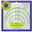 C.S. Osborne & Co. No. K-3 - Curved Round Point Needle Card (4 sizes included)