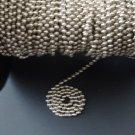50 FEET: Ball Chain #6 Spool Nickel Plated Steel