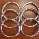 "6 ct: 2.5 inch (ID) Welded Steel Metal ""O"" Rings/NICKEL PLATE/6 mm GAUGE"