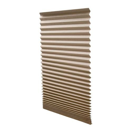 """6 QTY:Redi Shade Pleated Light Filtering Window Shade  36"""" x 72"""",Natural/1612094"""