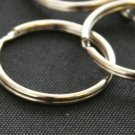 100 QTY: 25MM Split Key Chain Ring Connector Keychain/ Nickel Plated