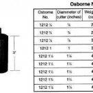 """C. S. Osborne & Co. No. 1212-3/4: 3/4"""" Round FOAM CUTTER (MPN # 64536)"""