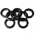 "#10 Plastic Grommet, 1 3/8"", 8 Sets, BLACK"
