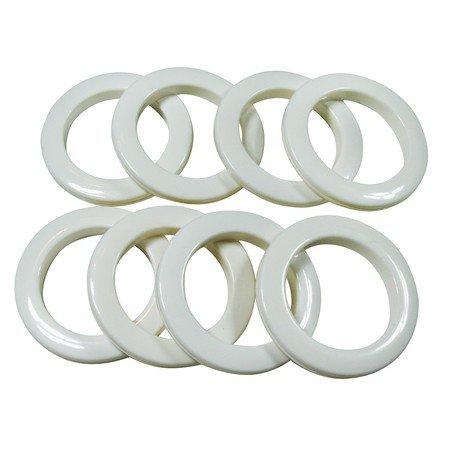 """#10 Plastic Grommet, 1 3/8"""", 8 Sets, WHITE"""