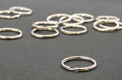 """1"""" Nickel Split Ring (50 Pack)"""